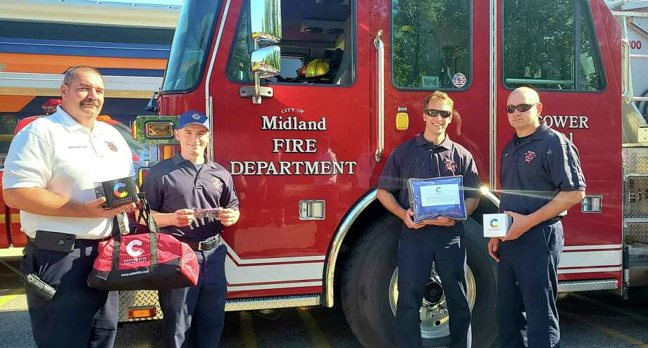 The Midland Fire Department has received a generous donation of five Carter Kits™ Sensory Bags from Fisher Companies that will assist the department in helping children with special needs during traumatic events. The kits were presented to MFD and all other Midland County fire departments during a brief ceremony at Fisher Companies offices on Friday, June 19. (Photo provided/City of Midland)