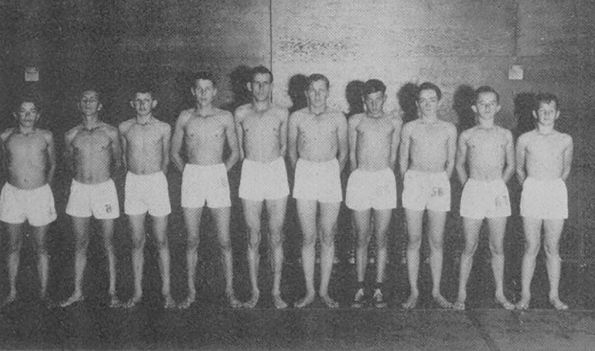 Junior high entrants in to Conroe's boxing tournament in 1947.