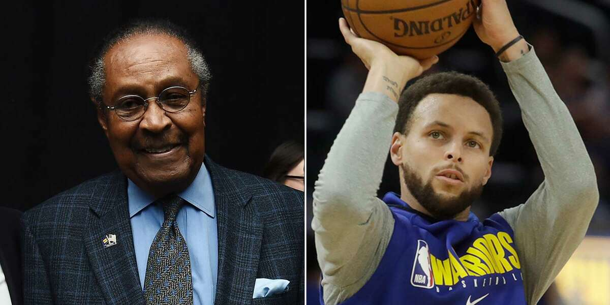 Clarence B. Jones, left, and Stephen Curry