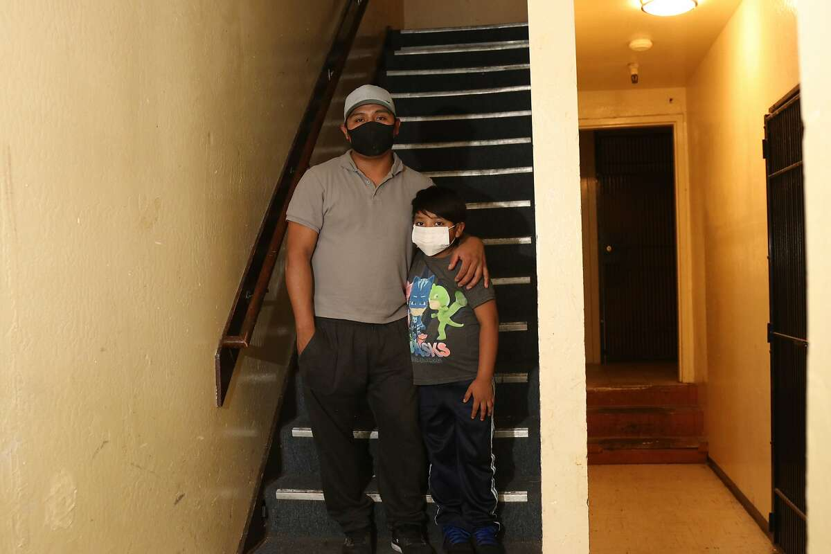 Joel Ramirez and his 9-year-old son, Wilder, live in a small room in a shared apartment on Third Street in Bayview-Hunters Point. Wilder attends Bret Harte Elementary school while his dad works a job in construction.