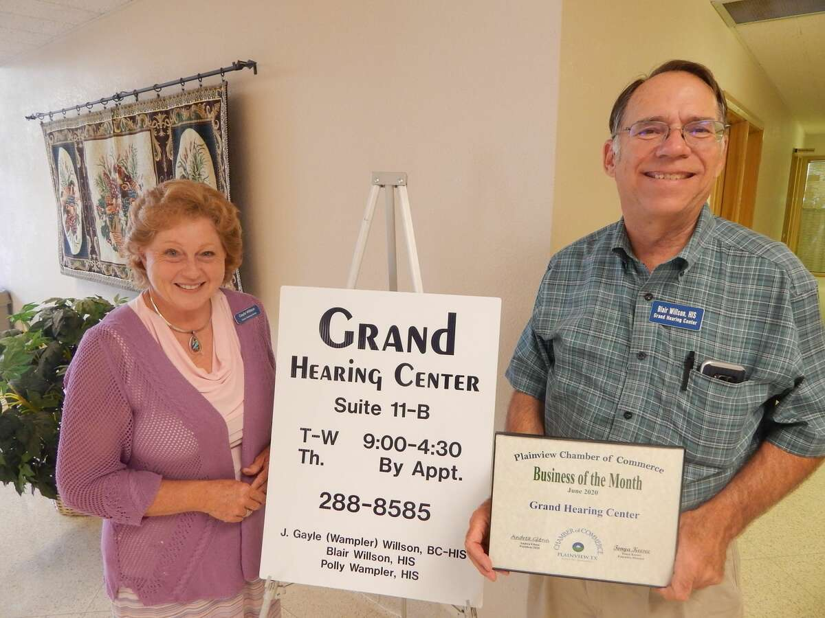 Grand Hearing Center was named the Business of the Month for the month of June.