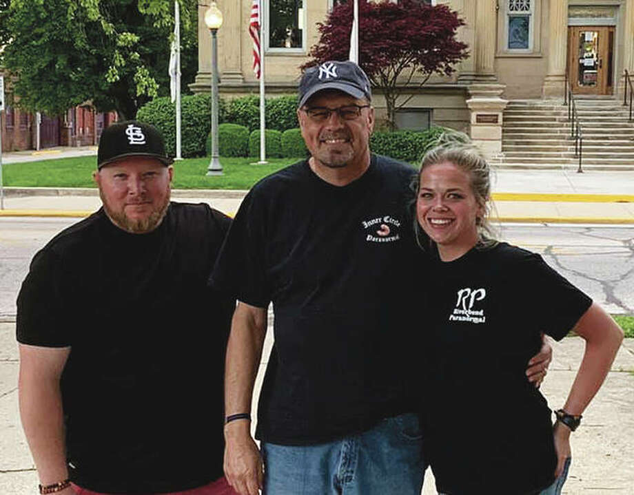 "Loren Hamilton (center), lead investigator for American Hauntings Tour Co., invited paranormal investigators and ""Ghost Hunters"" stars Brian Murray (left) and Richel Stratton to Jacksonville to check the Jacksonville Dream Center Foundation building for paranormal activity."