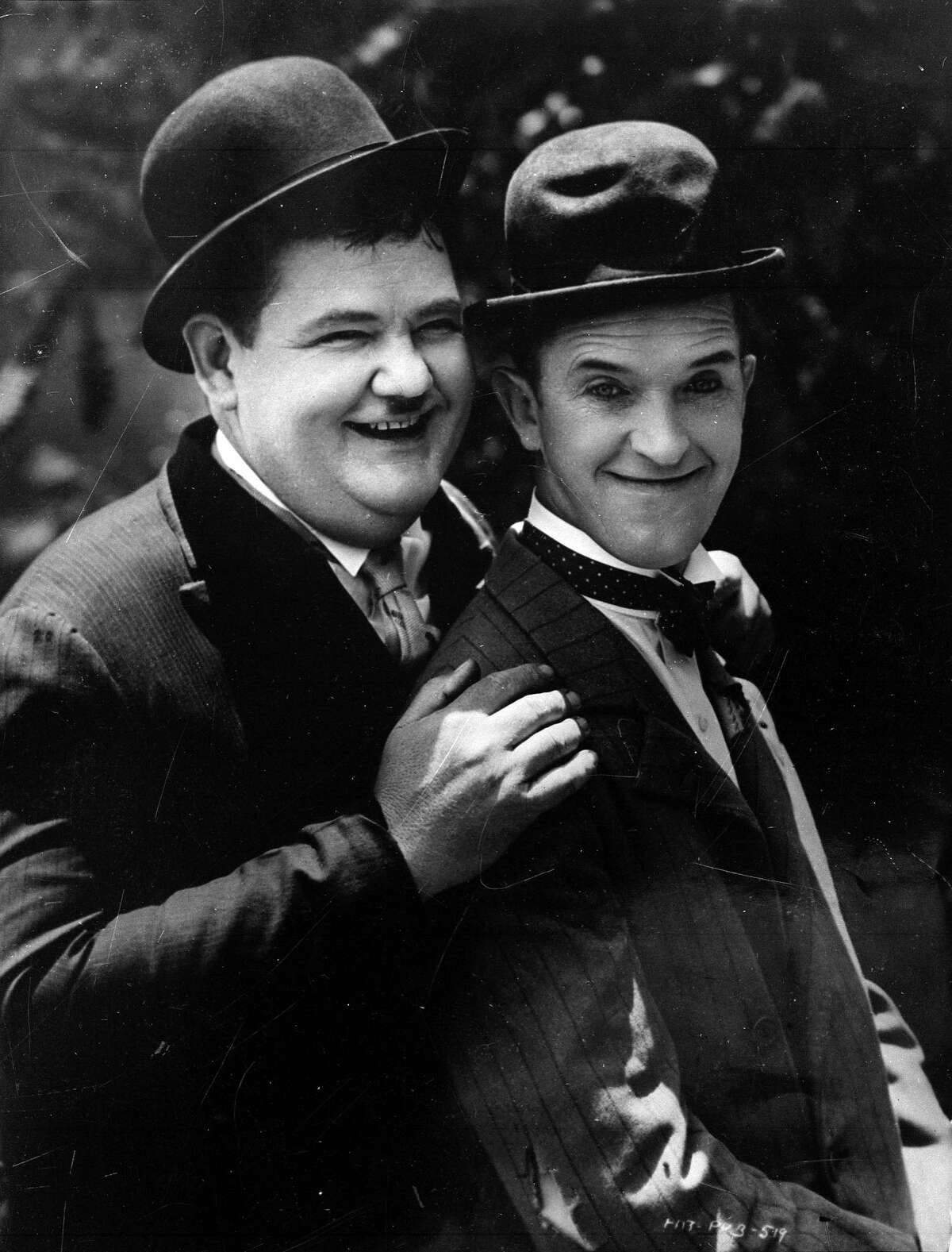 Oliver Hardy, left, and Stan Laurel in 1930.