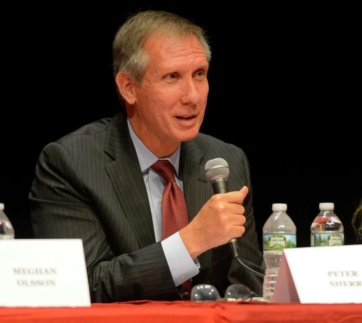 Greenwich Board of Education member Peter Sherr in 2017.