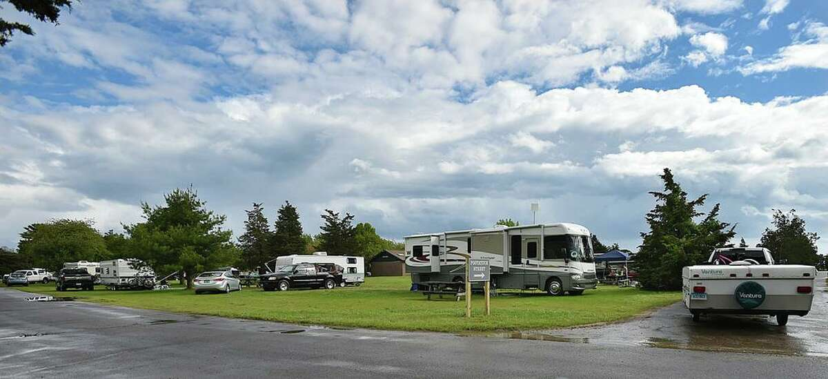 In this file photo, the campground at Hammonasset Beach State Park in Madison. Tourism is expected to be down in the state this year due to the coronavirus pandemic, though the state is investing it attracting visitors.