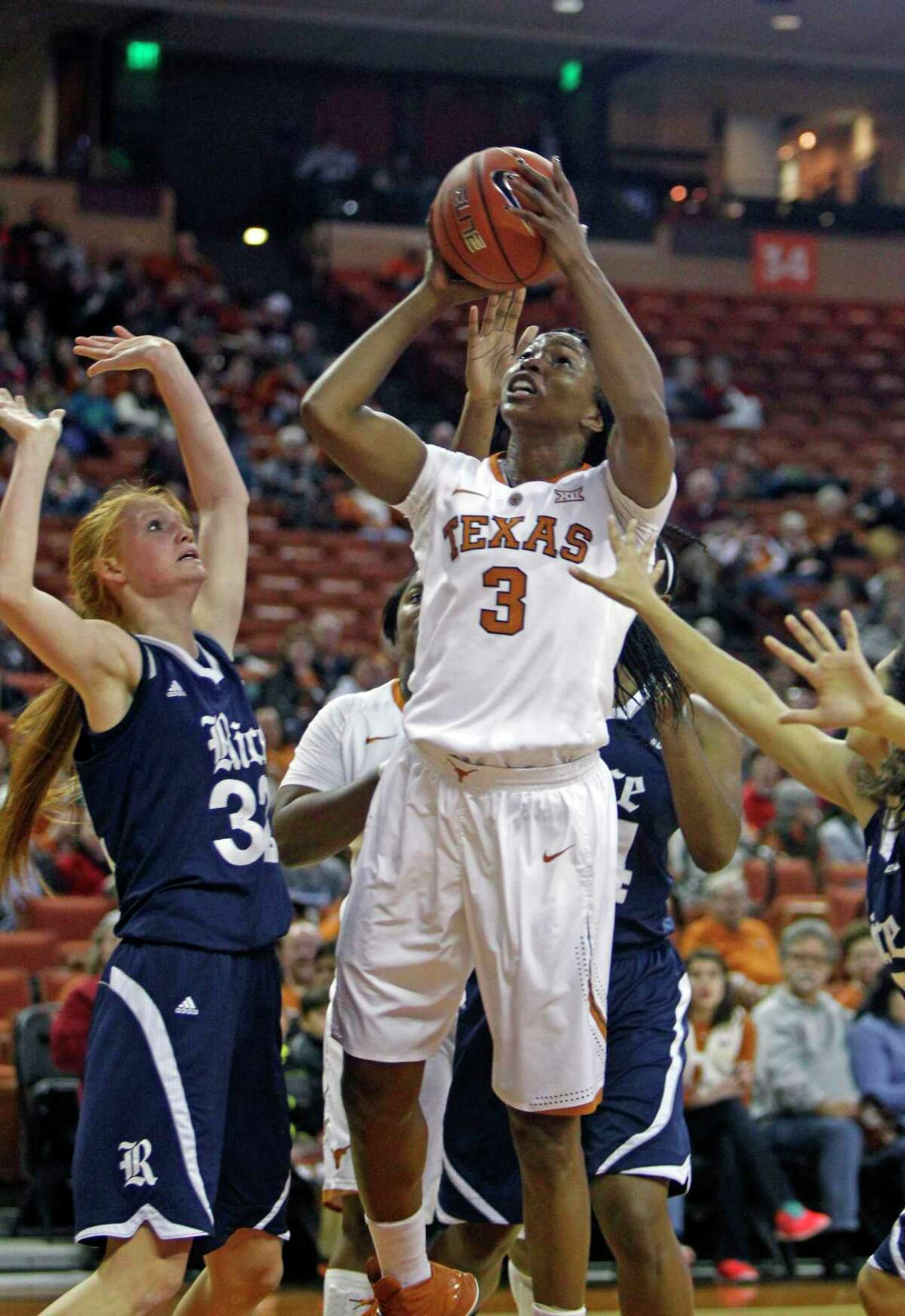 Former Texas forward Nneka Enemkpali said she was dissuaded from pursuing nursing by a white counselor.