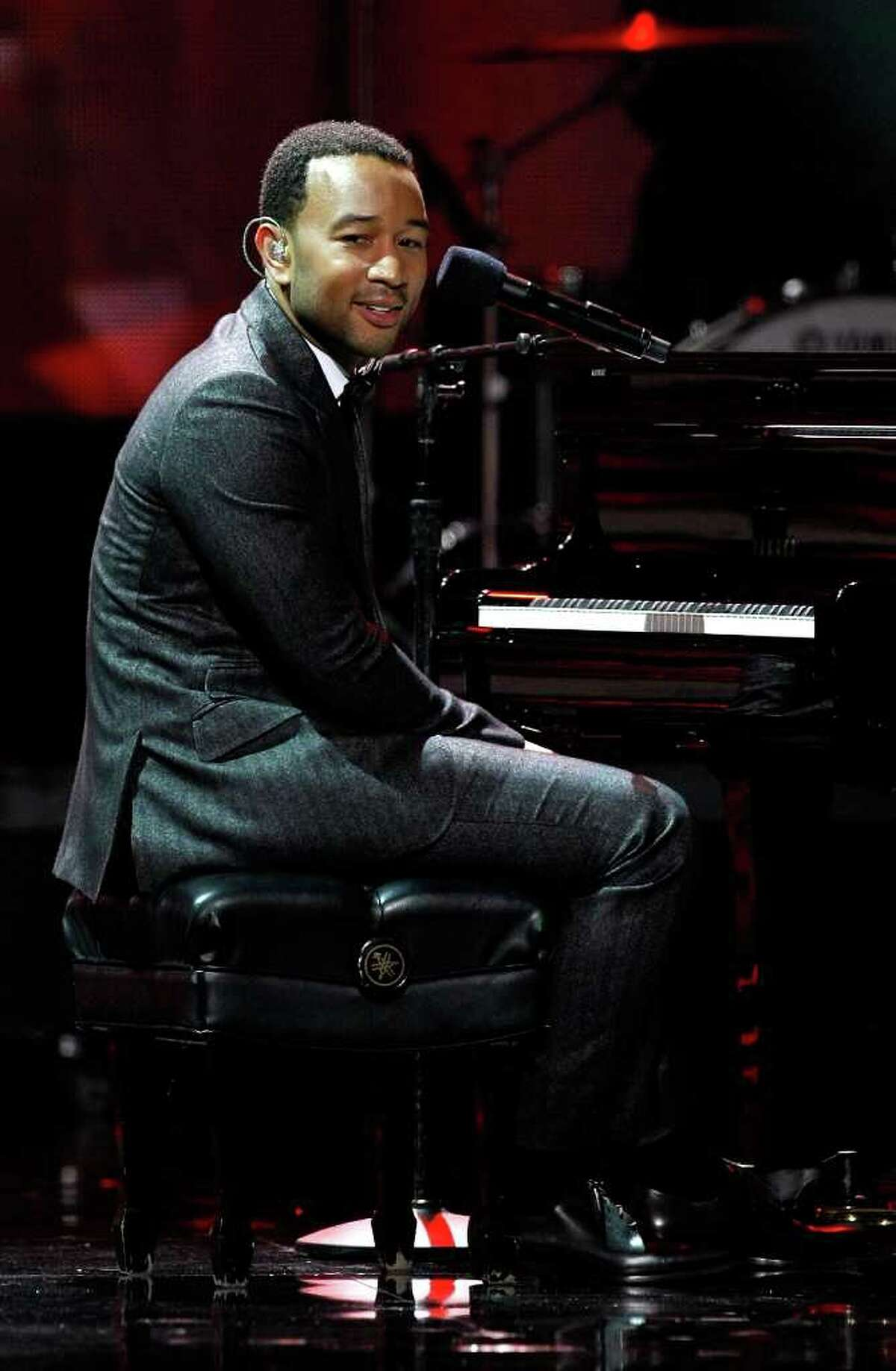 LAS VEGAS - AUGUST 23: Recording artist John Legend performs at the 2010 Miss Universe Pageant at the Mandalay Bay Events Center August 23, 2010 in Las Vegas, Nevada. (Photo by Ethan Miller/Getty Images)