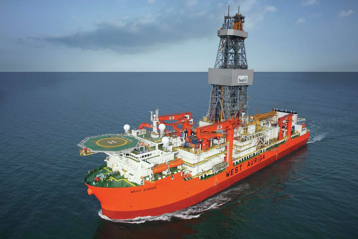 The ultradeep-water drilliship West Auriga, under contract to BP from offshore drilling contractor Seadrill, has begun developmental drilling work at BP s Thunder Horse field in the Gulf of Mexico, BP said Nov. 19, 2013. The offshore industry, which was enjoying a renaissance before the oil bust, is now plagued by layoffs and company bankruptcies.