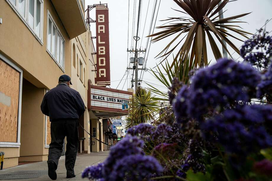 Balboa Theatre on Saturday, June 20, 2020, in San Francisco, Calif. After being closed due to the coronavirus pandemic, movie theaters in several Bay Area counties are reopening this week. Photo: Santiago Mejia / The Chronicle