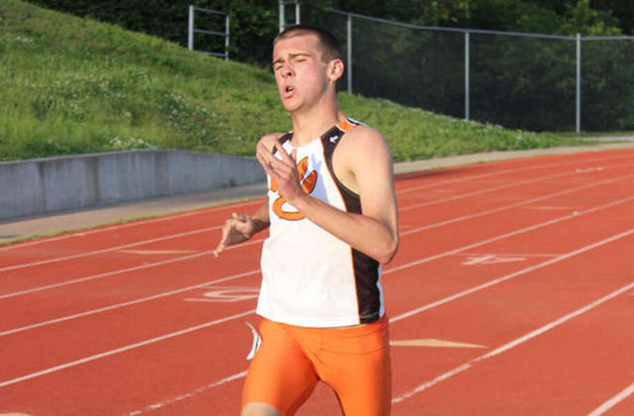 Edwardsville's Joe Shannon competes in the 800-meter run in the 2015 Southwestern Conference Meet at Public School Stadium in Alton. Shannon, a 2015 EHS graduate, has been hired as an assistant boys cross country coach at O'Fallon High School. Photo: Intelligencer Sports Staff
