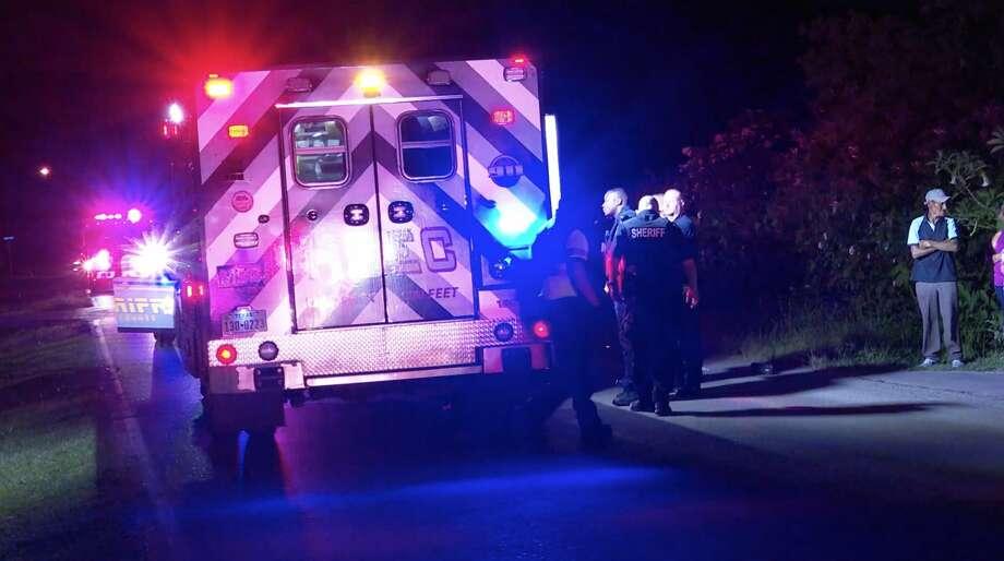 Harris County sheriff's deputies investigate a deadly collision along Sevel Mile Lane on Sunday, June 21, 2020. Photo: OnScene.TV