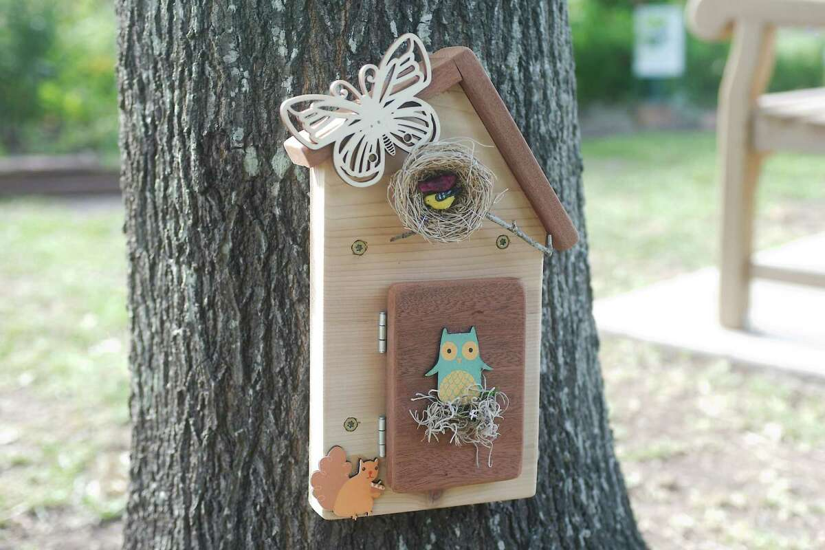 The home of Gertrude the animal fairy is the first tiny home you'll find on the trail.