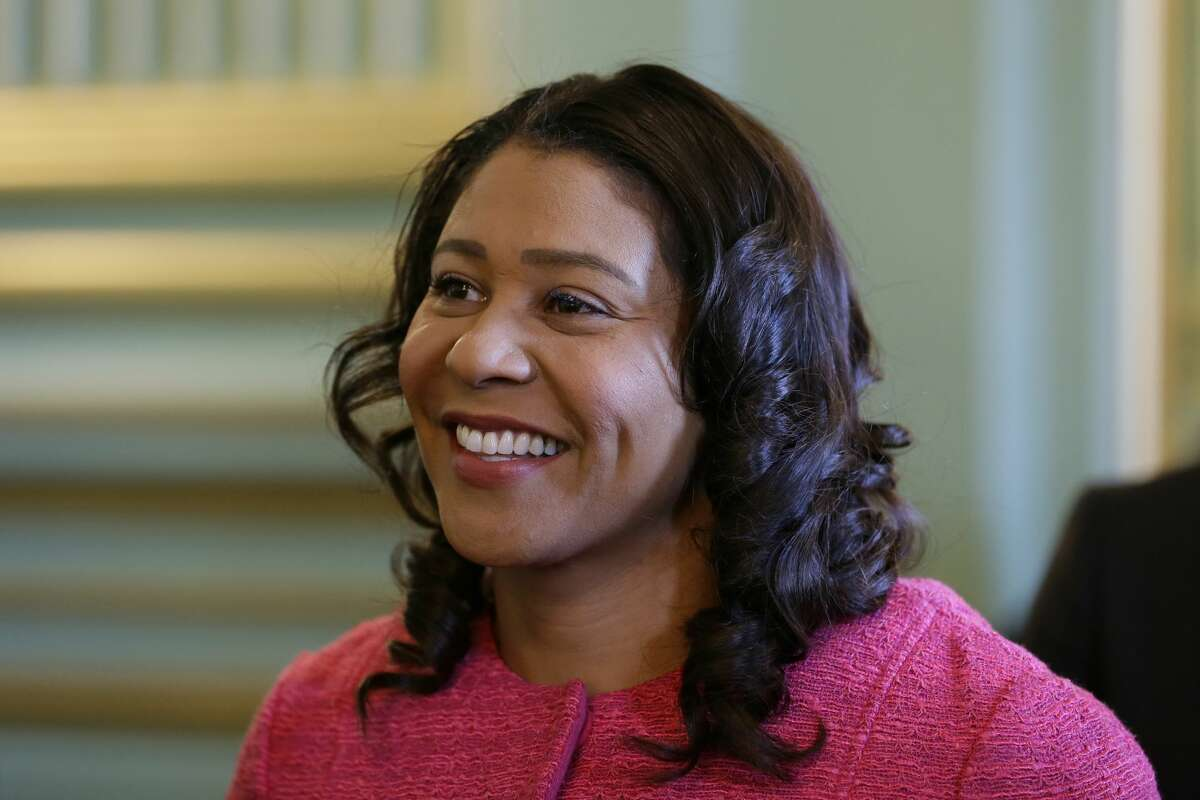 FILE - In this Nov. 1, 2019, file photo, San Francisco Mayor London Breed waits to speak at a luncheon in San Francisco.