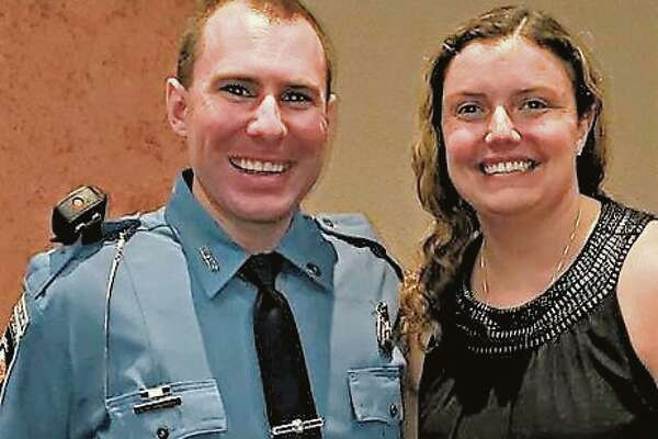 Big Rapids Department of Public Safety Officer Eric Winsor was recognized in 2019 by the Mothers Against Drunk Driving for his work in proactive traffic enforcement. Winsor said his wife Caitlin (right) has always been very supportive of his job.