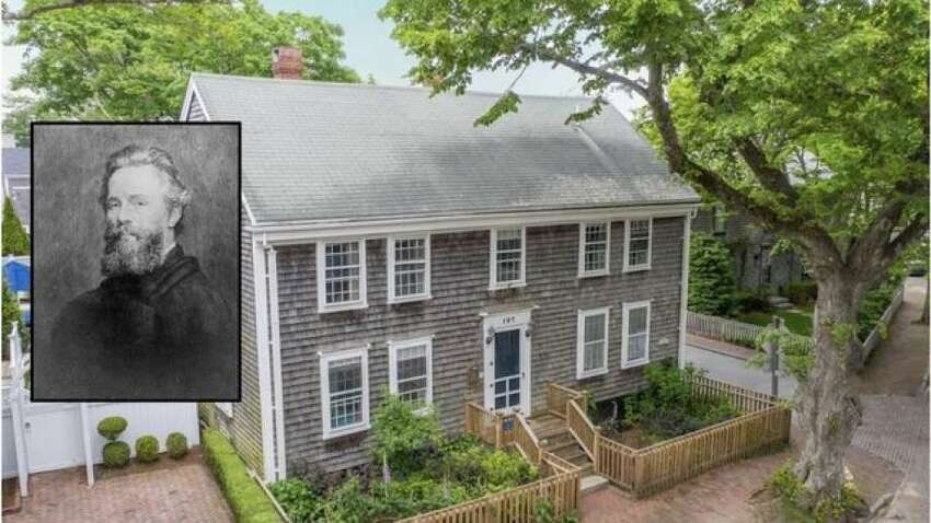 107 Main St, Nantucket, MA is on the market for $2,575,000. The four-bedroom, 5.5-bath home was built in 1694 by Richard Macy, but it was moved from the Sherburne settlement to its current location in the 1740s. Locals may recognize it as the Reuben Joy Homestead.