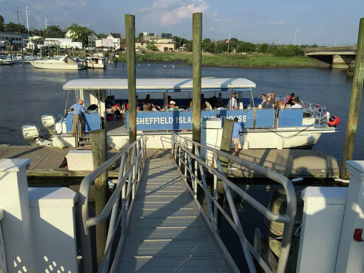 The Seaport Association invites you to take a scenic Norwalk Harbor cruise. Among the sights you'll enjoy are three lighthouses, including the Sheffield Island Lighthouse.