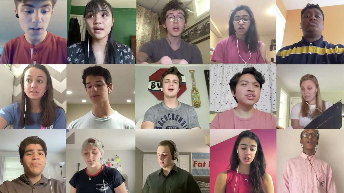 Brien McMahon students sing