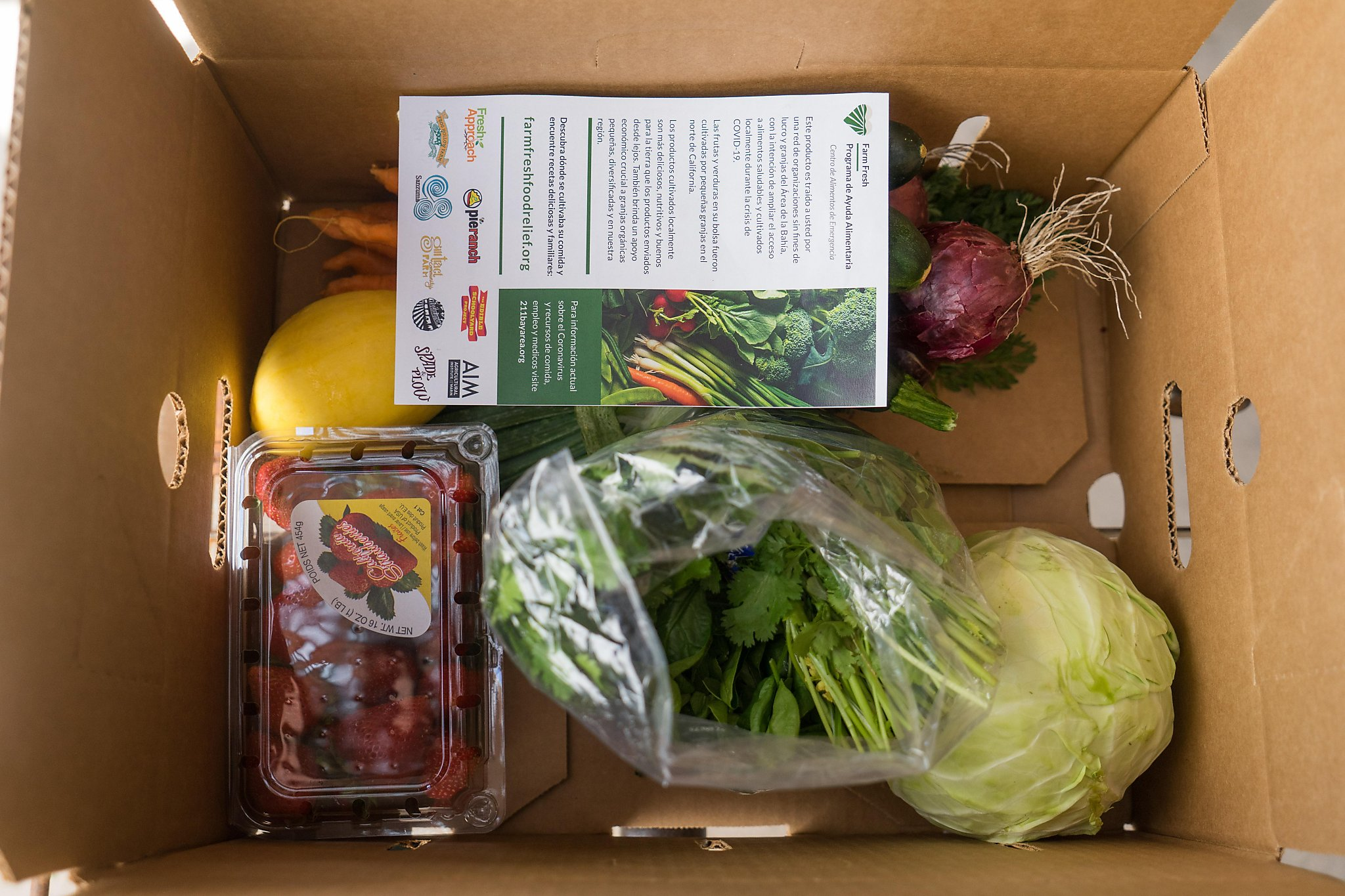 As Bay Area restaurant business drops, local farms send produce to struggling families
