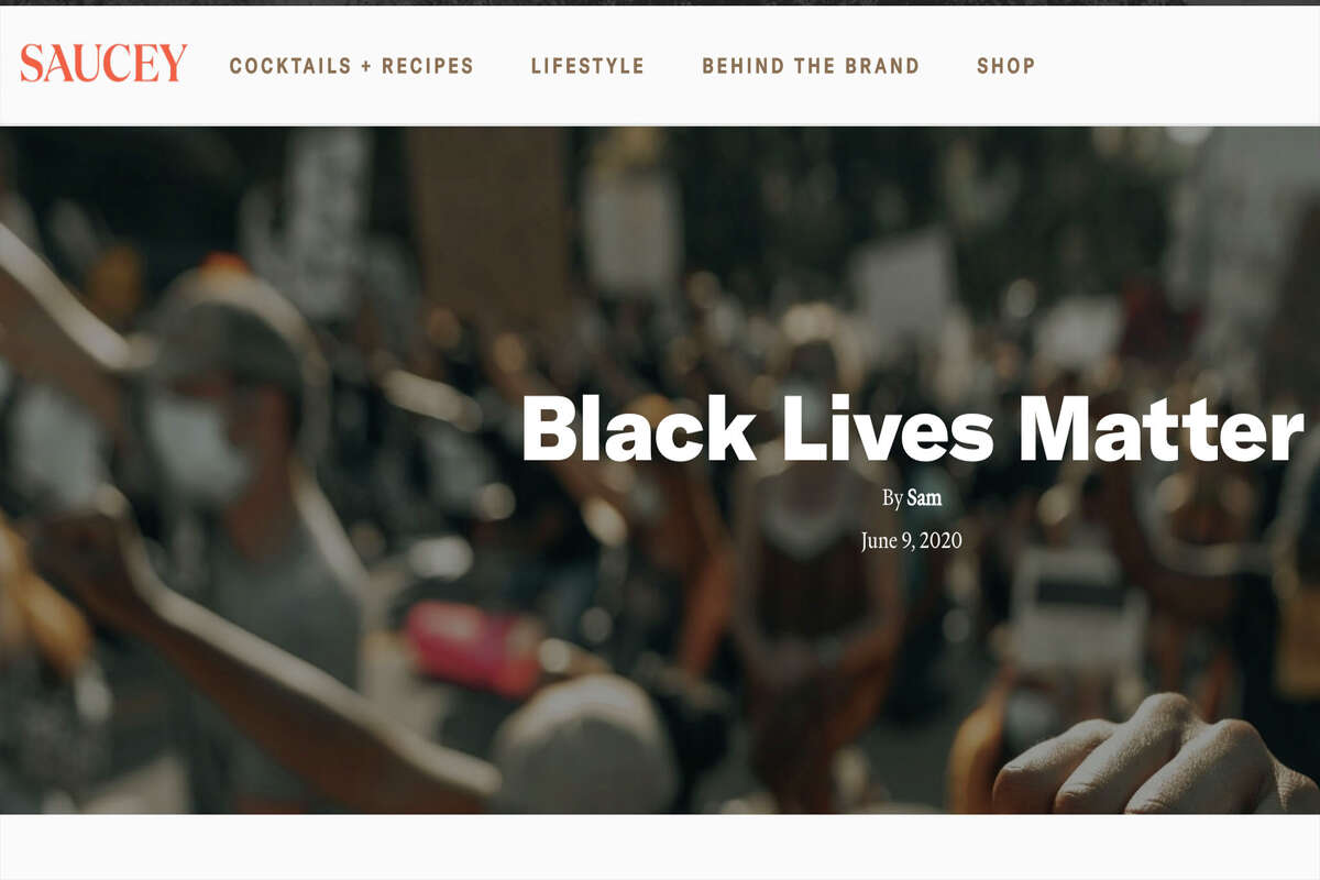 Saucey The liquor delivery service not only made a one-time donation to the NAACP Legal Fund, Black Lives Matter, Campaign Zero, Know Your Rights, Showing Up for Racial Justice and Black Futures Lab, but it pledged to