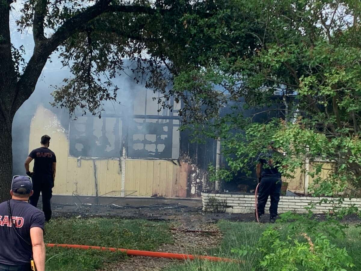 The San Antonio Fire Department is battling a structure fire on the North Side.