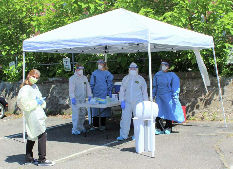 Community Health & Wellness Center of Greater Torrington provides COVID-19 testing during a recent event at Coe Memorial Park. Photo: CHWC / Contributed Photo /
