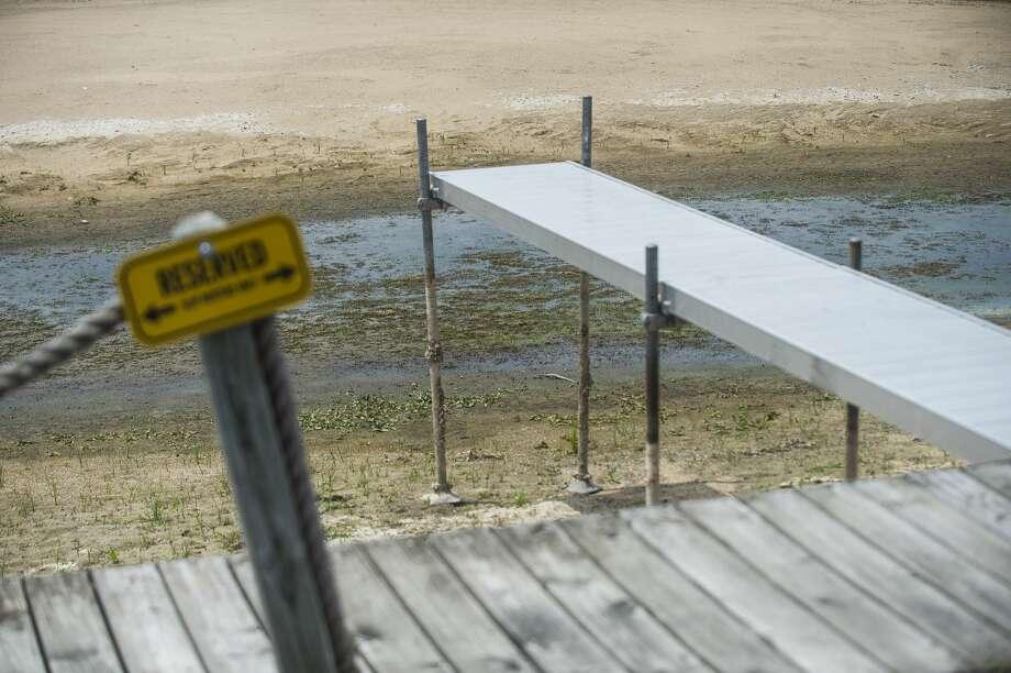 The water level on Wixom Lake is seen from Stryker's Marina Monday, June 22, 2020 in Tobacco Township. (Katy Kildee/kkildee@mdn.net) Photo: (Katy Kildee/kkildee@mdn.net)