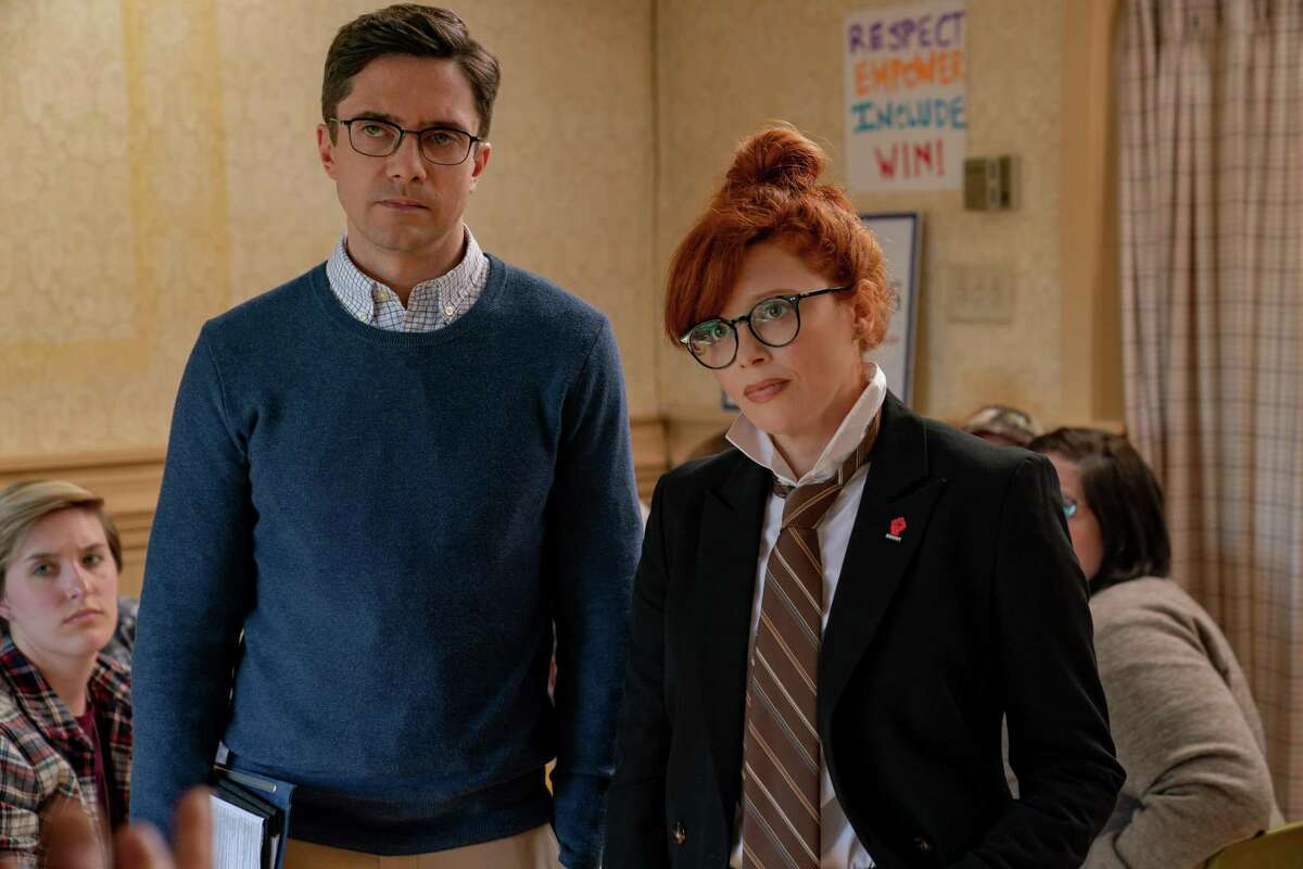 Topher Grace stars as Kurt and Natasha Lyonne as Tina in IRRESISTIBLE, a Focus Features release. An added bonus of working with Stewart, said Grace, was that often at lunch during filming, he had his own personal