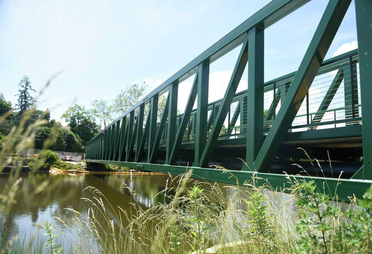 A new pedestrian bridge has been constructed in partnership with Eversource at Bruce Park in Greenwich, Conn. Sunday, June 21, 2020.