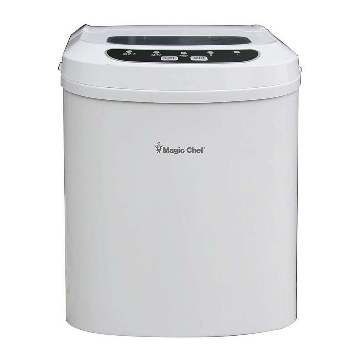 1) Magic Chef MCIM22W 27 lb. Portable Ice Maker: $132.99 Shop Now An ice maker should be quick, efficient, and easy-to-use. The Magic Chef portable ice maker ticks all those boxes and then some. It's one of the most affordable and reliable ice makers on the market. It produces fresh ice in 7 to 10 minutes depending on what size cubes you want to make. At 14 inches deep, about 13 inches tall, and 9.5 inches wide the ice maker is compact enough to fit on most countertops, and its rectangular shape and narrow build makes it easy to store or travel with. You can expect this model to produce 27 pounds of ice each day. It's available in white, silver, or black and is also a favorite of Business Insider. Read More: We Tried the Oprah-Approved Bartesian - the Keruig for Cocktails