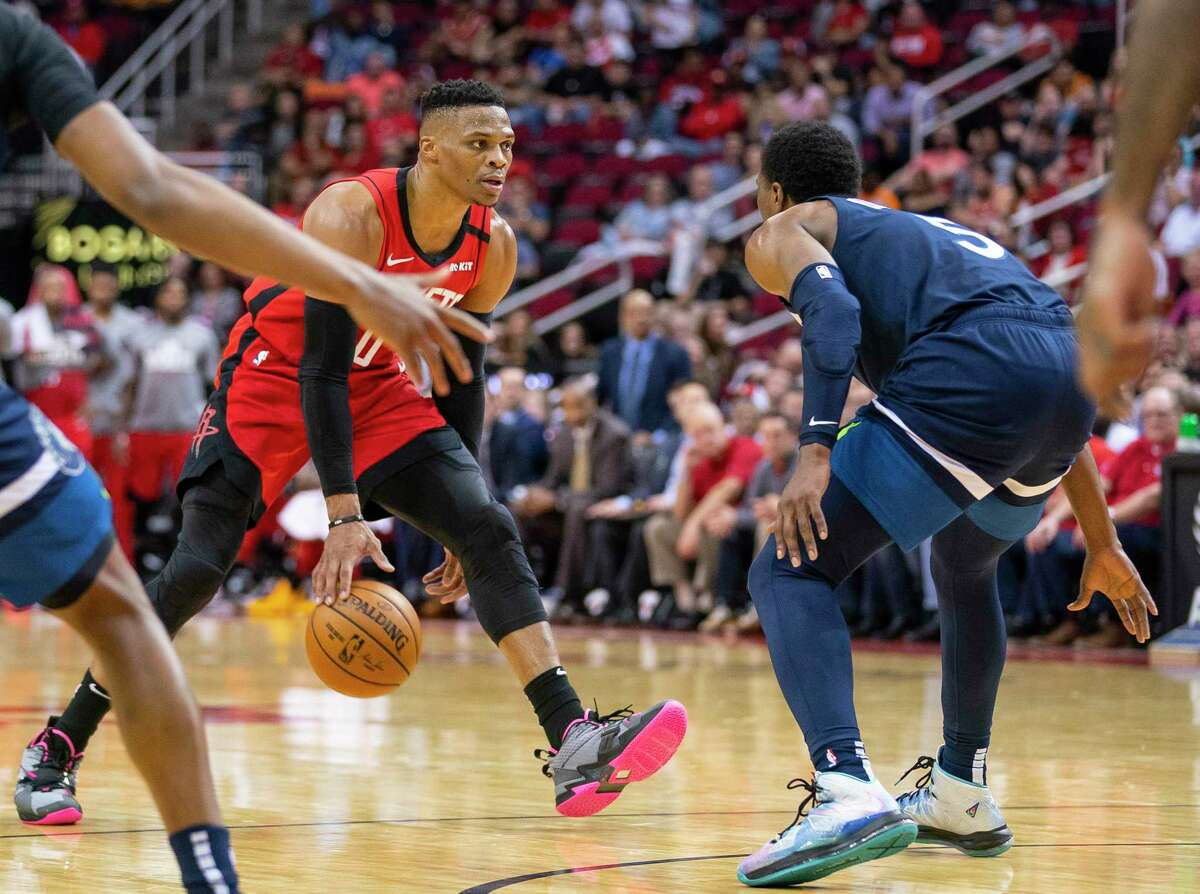 The Rockets are counting on the same competitive drive from Russell Westbrook, shown in the final game of last season at Toyota Center.