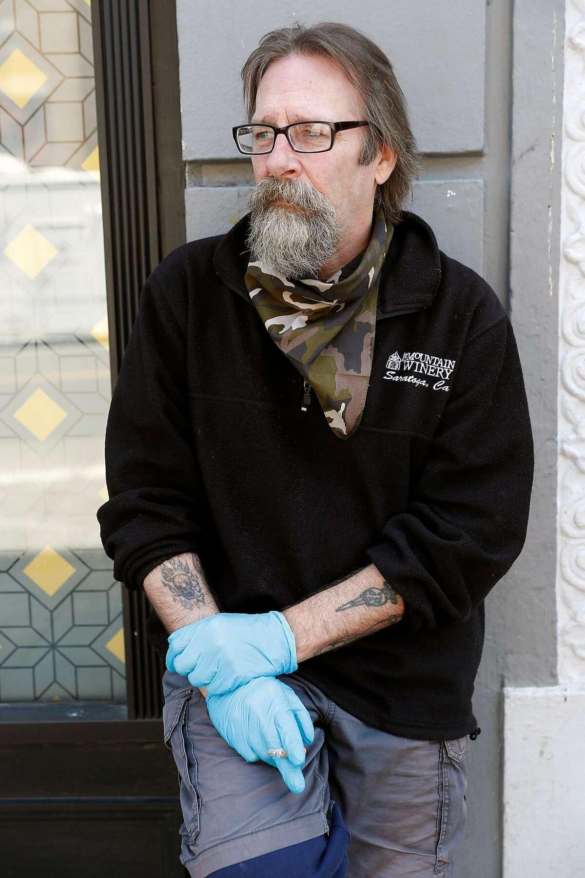 David White outside his Eddy Street hotel in San Francisco, Calif., on Sunday, June 21, 2020.