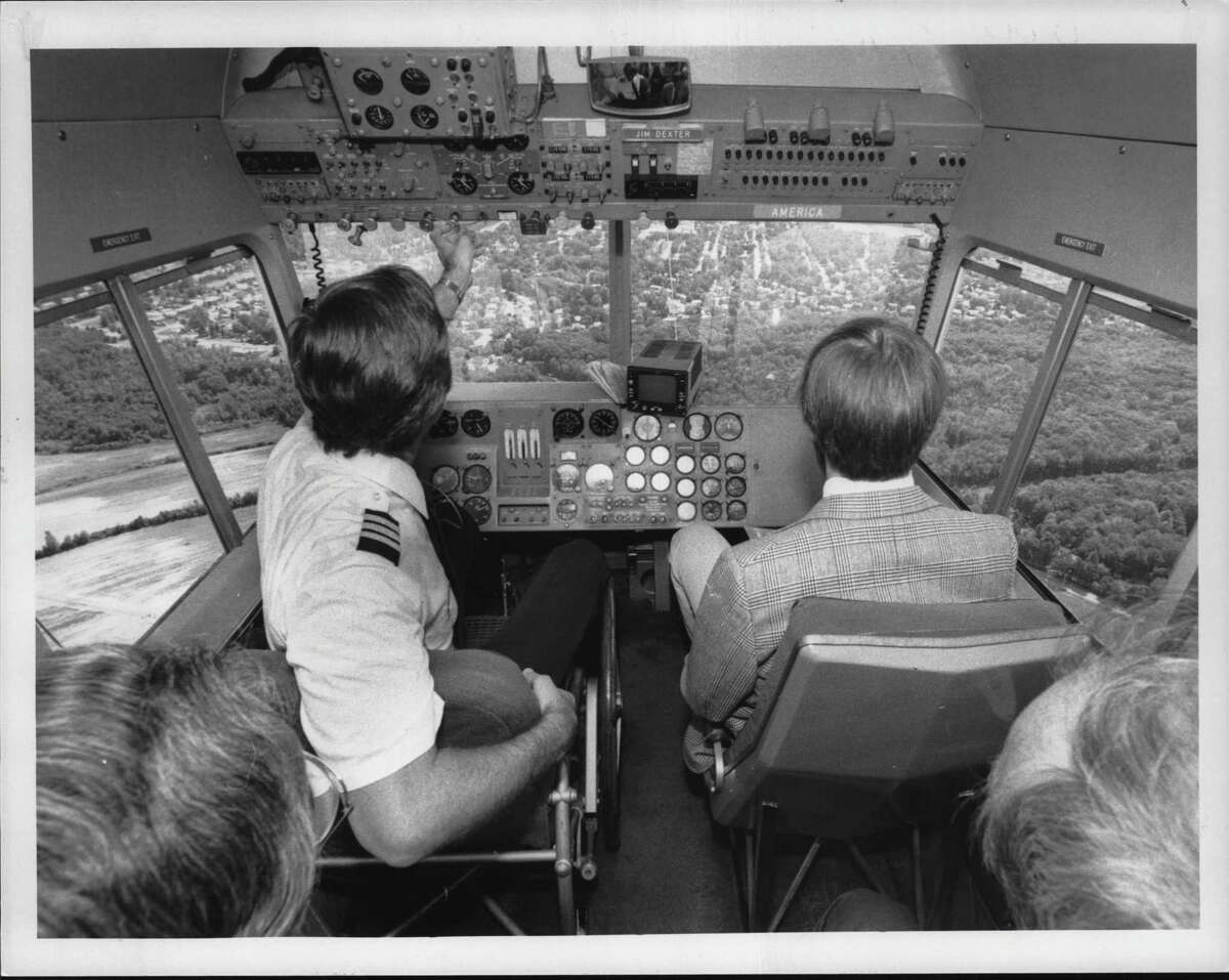 Goodyear Blimp pilot Jim Dexter. June 23, 1985 in the Albany area. (Hai Do/Times Union Archive)