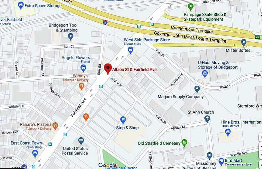 At 6:12 p.m on Monday, June 22, 2020., police responded to a ShotSpotter activation in the area of Fairfield Avenue and Albion Street in Bridgeport. 18-year-old Eugene Stinson, of Bridgeport, was found shot inside a car. Photo: Google Maps
