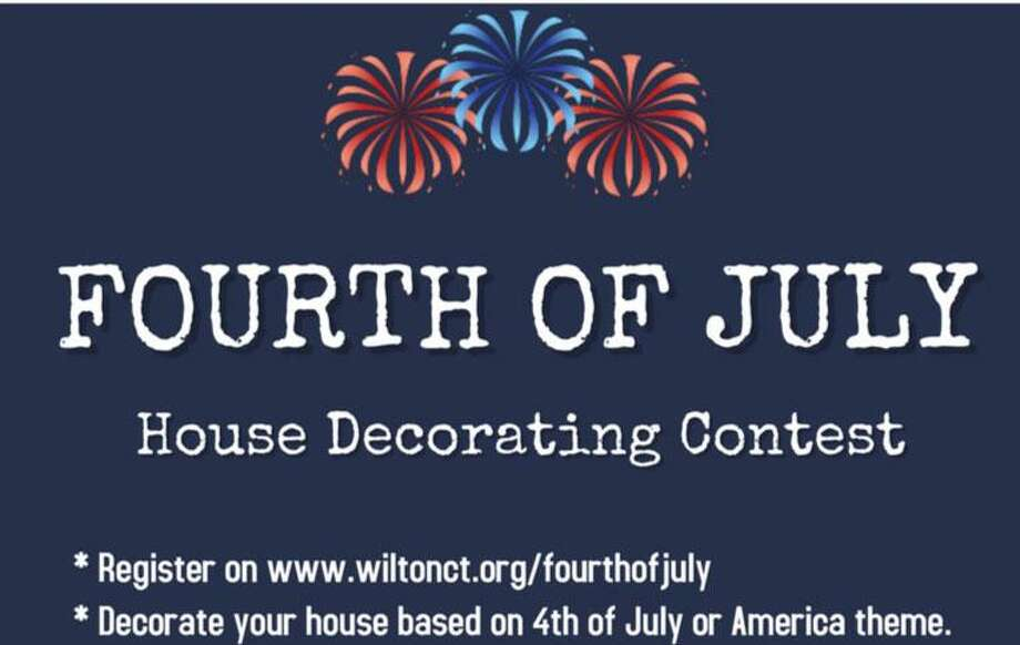 With Wilton's annual festivities canceled, the town is holding a house decorating contest, with judging on Thursday, July 2. Photo: Contributed