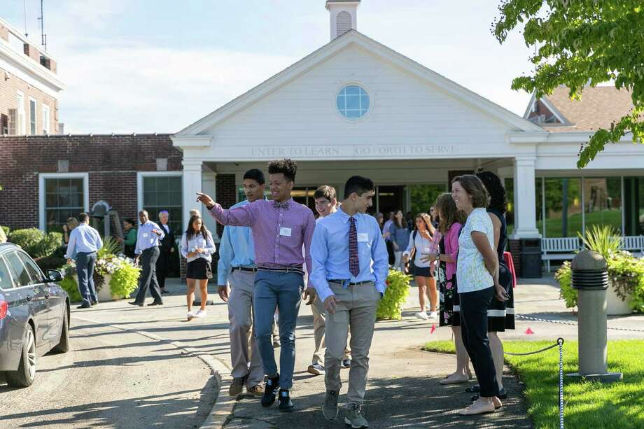 Students, and teachers at the St. Luke's School in New Canaan are planned to return to classes in-person on August 24, 2020. Photo: Desiree Smock / Contributed Photo / © 2014 Joseph Martin