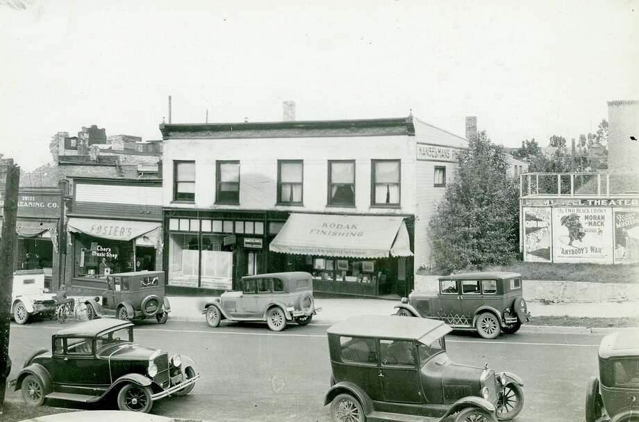 This is what the view from Maple Street across from the current Manistee City Hall looked like in the 1930s.