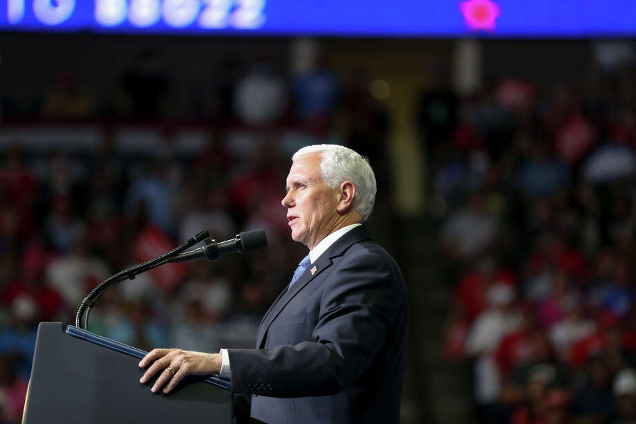 Vice President Mike Pence speaks during a campaign rally for President Donald Trump at BOK Center in Tulsa, Okla., Saturday, June 20, 2020. (Ian Maule/Tulsa World via AP) Photo: Ian Maule, AP / Tulsa World