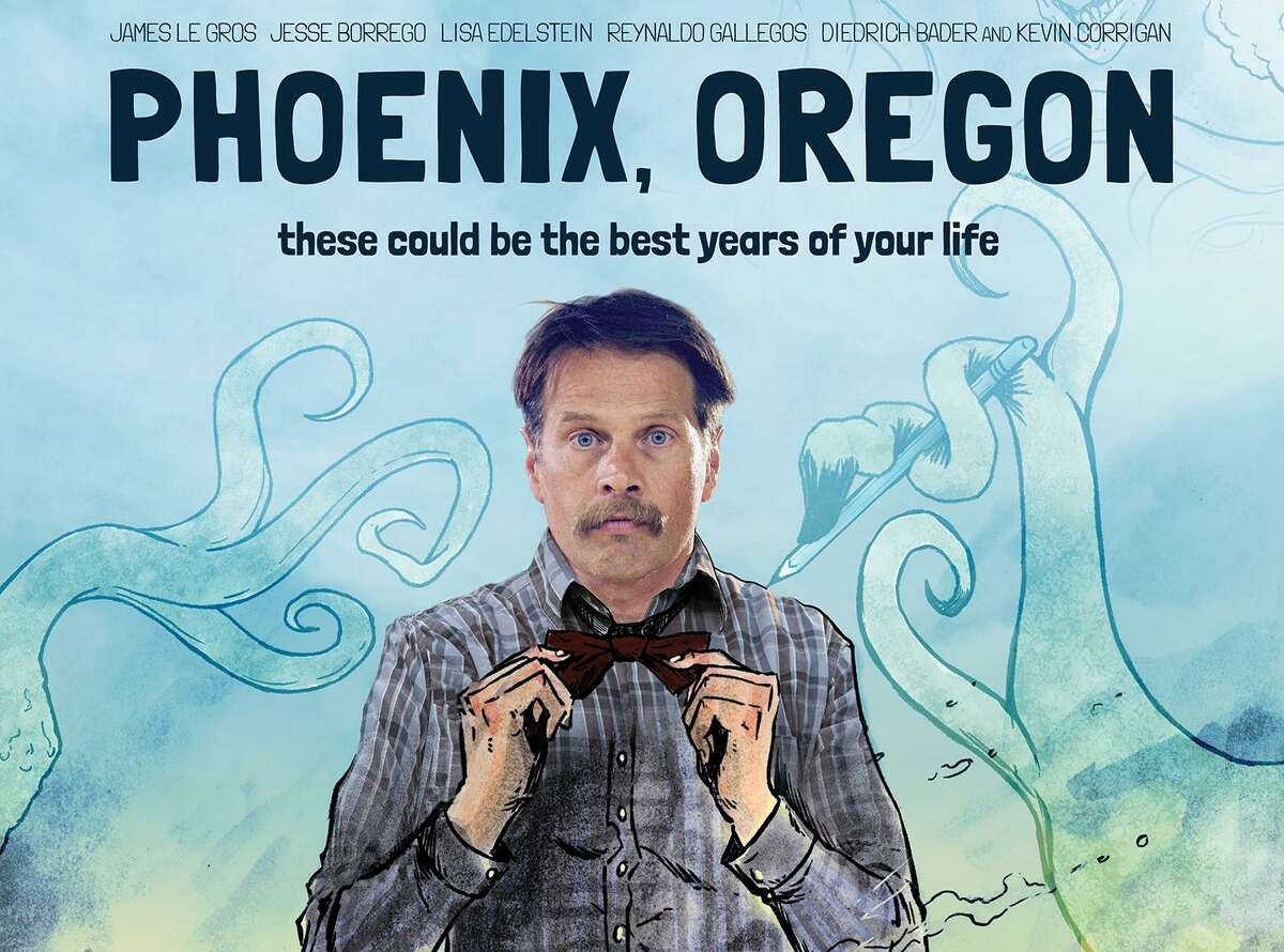 The poster for the film 'Phoenix, Oregon,' starring San Antonio native Jesse Borrego, James Le Gros, Lisa Edelstein and Diedrich Bader.