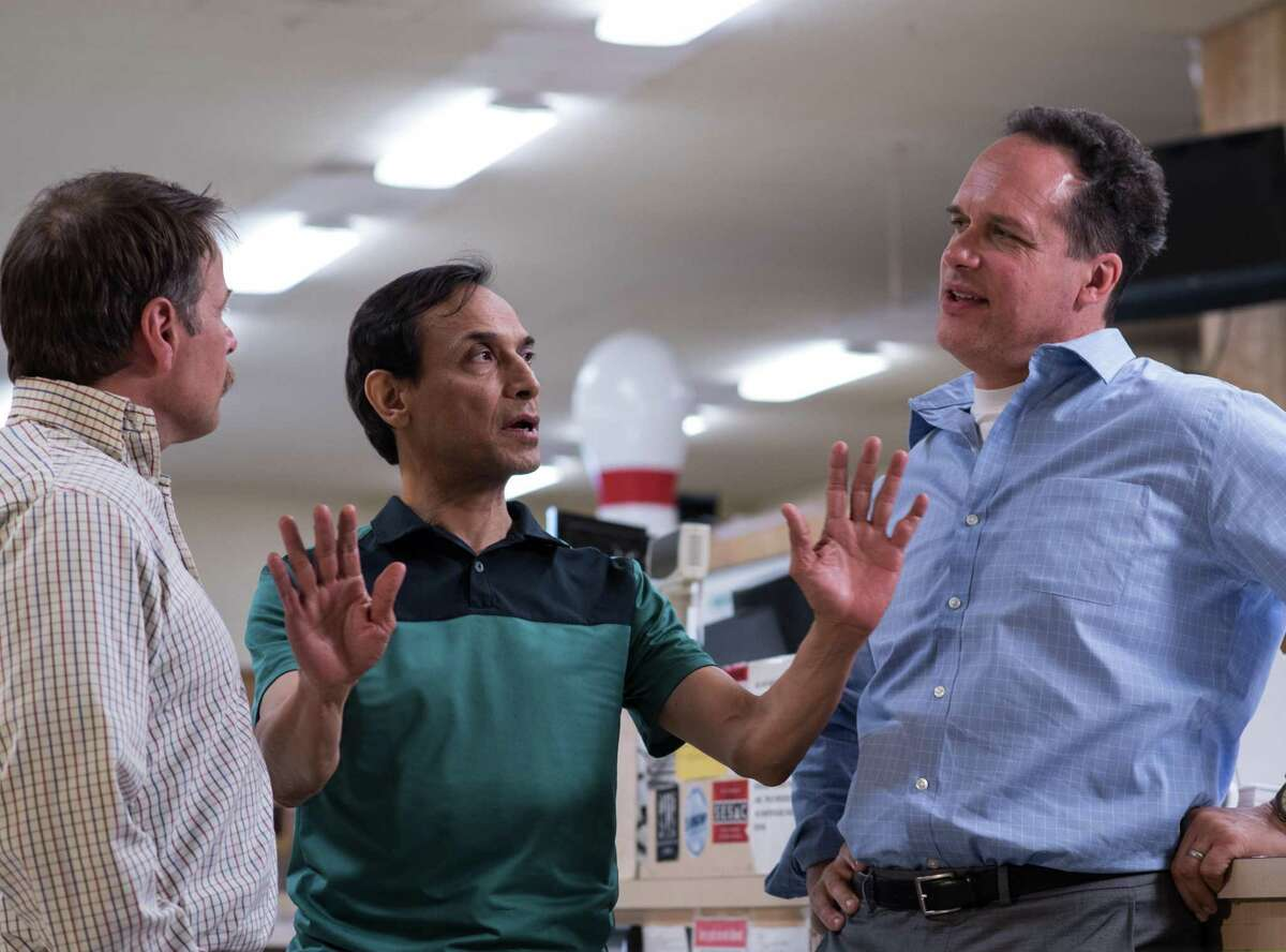 """San Antonio native Jesse Borrego (center) stars in the independent film """"Phoenix, Oregon,"""" with James Le Gros (left) and Diedrich Bader."""
