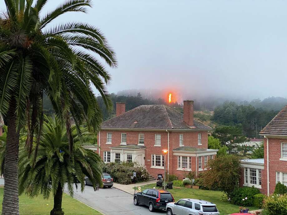 A fire in the Presidio of San Francisco on the morning of June 23, 2020. Photo: Hanno Fichtner / Twitter