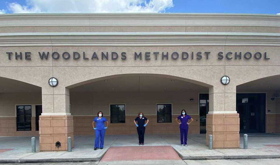 The Woodlands Methodist School recently announced some of the changes that will be implemented next year in response to COVID-19 based on a plan developed by the school's nurses, Tamara Fedoruk left, Alison Whiddon and Paula Gamwell. Photo: Provided