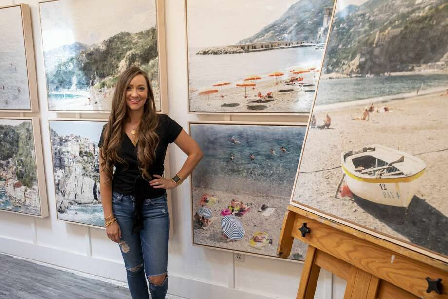 Kayla Barker poses by her photo encaustic art Tuesday, June 23, 2020 at her studio in Midland. Photo: Jacy Lewis/Reporter-Telegram / Jacy Lewis/Reporter-Telegram