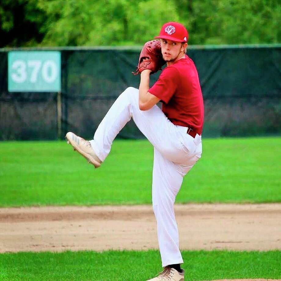 Former Reed City pitcher Hunter Morrison was in his sophomore season at Aquinas College. (Courtesy photo)