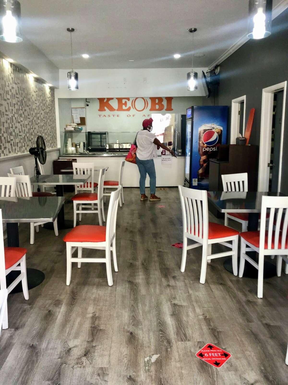 Inside of Keobi, a new Nigerian restaurant on Lark Street in Albany.