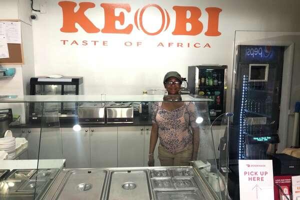 Chef-owner Kelechi Nwagboso of Keobi at her Lark Street restaurant in Albany.
