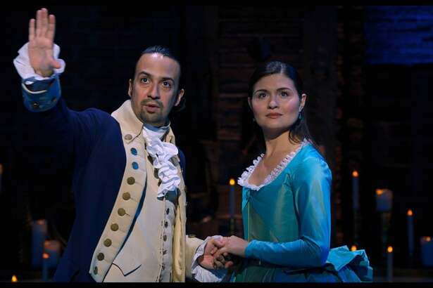 History has its eyes on Lin-Manuel Miranda and Phillipa Soo as Alexander and Eliza Hamilton in the filmed version of the hit musical Hamilton.