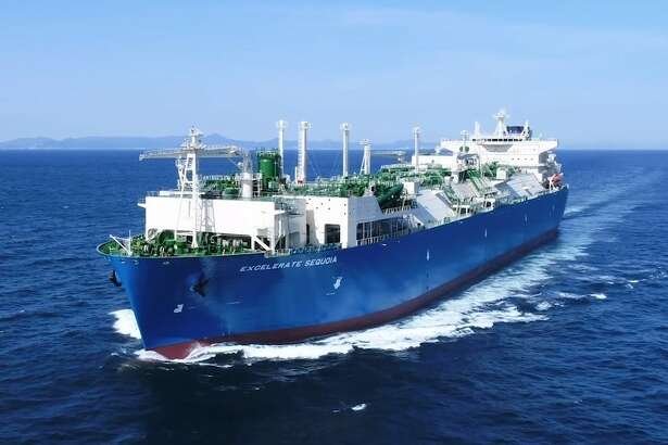 The Woodlands liquefied natural gas company Excelerate Energy debuted its 10th tanker that can be used as an offshore LNG import terminal at destinations around the world.?