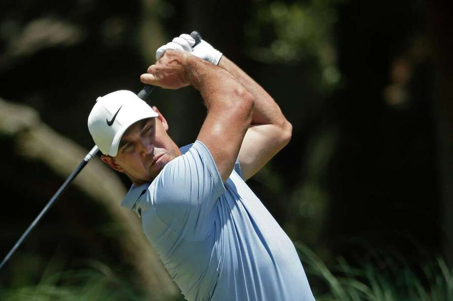 Brooks Koepka hits off the second tee during the final round of the RBC Heritage golf tournament, Sunday, June 21, 2020, in Hilton Head Island, S.C. Photo: Gerry Broome / Associated Press / Copyright 2020 The Associated Press. All rights reserved.