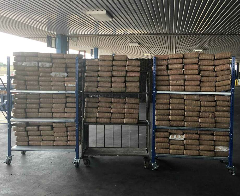 U.S. Customs and Border Protection officers recently seized 1,552.92 pounds of marijuana during an enforcement action reported at the World Trade Bridge. Photo: Courtesy Photo /U.S. Customs And Border Protection
