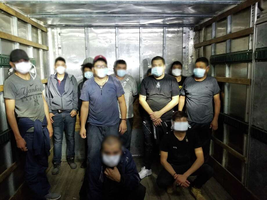 U.S. Border Patrol agents said these immigrants crossed the border illegally. All were discovered inside a box truck that had arrived at the U.S. 59 checkpoint early Monday. Photo: Courtesy Photo /U.S. Border Patrol